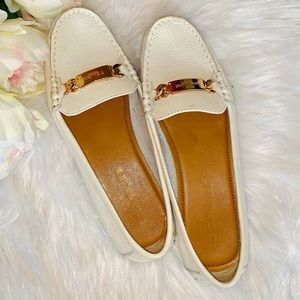 🌸COACH White & Gold Loafers /Boat Shoes/ Flats🌸